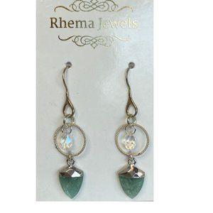 Rhema Jewels Amazonite SWAROSKI Earring
